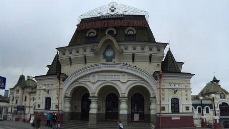 ウラジオストク駅前のカフェスタンド