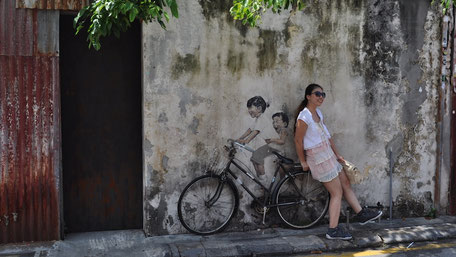 ジョージタウンのストリートアート、自転車