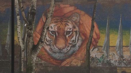 バベルさんの壁画/虎