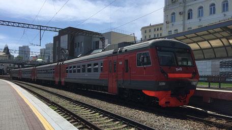 シベリア鉄道の列車