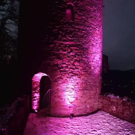 Krukenburg bei Nacht illuminiert