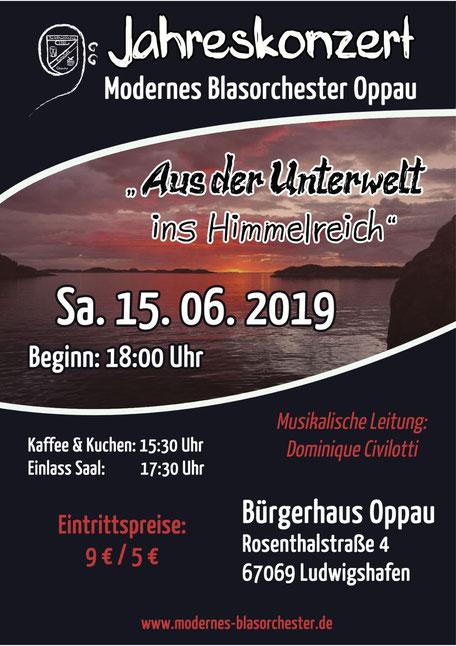 Das Konzertplakat für das Jahreskonzert des MBO mit der Uraufführung von Linsenmeier (Foto: MBO)