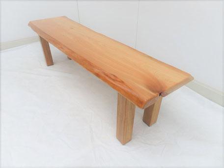 桧 無垢一枚板 ベンチ 天然木工房 ダイツリー