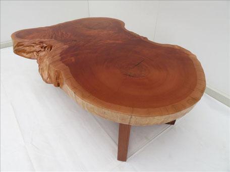 欅 無垢一枚板 ローテーブル 天然木工房 ダイツリー