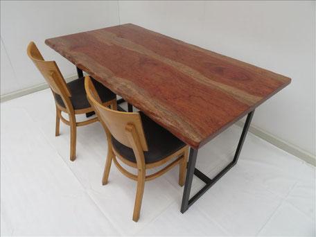 ブビンガ 無垢はぎ合わせ テーブル 天然木工房 ダイツリー