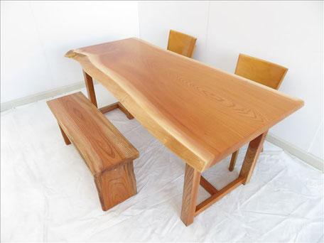欅 無垢一枚板 テーブル 天然木工房 ダイツリー