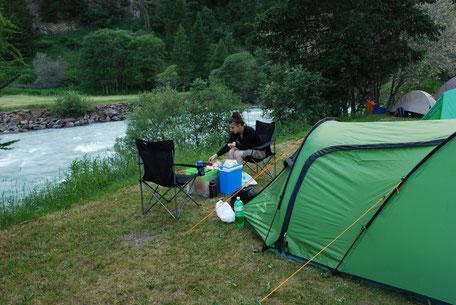 3 Personen Zelt mit Vordach