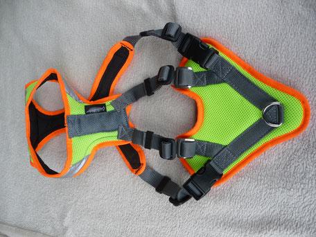 Trailgeschirr, gelb orange Reflektoren