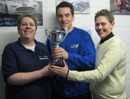 Patrick from Precision Paint wins WWN Business Award