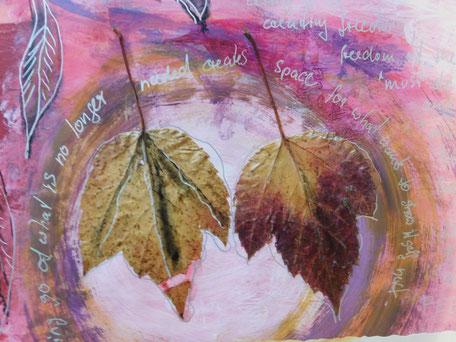 Malen im Kunsttagebuch mit der Malbegleiterin Christine Lukas aus Bingen