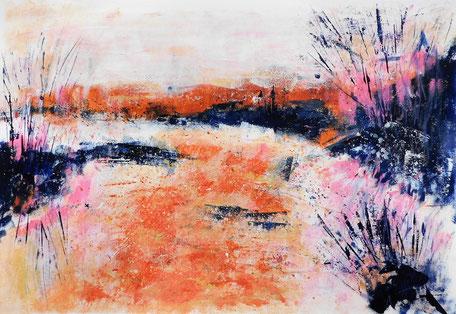 Der große Fluss des Lebens war eine Inspiration für die Ausstellung Streifzüge in Farbe
