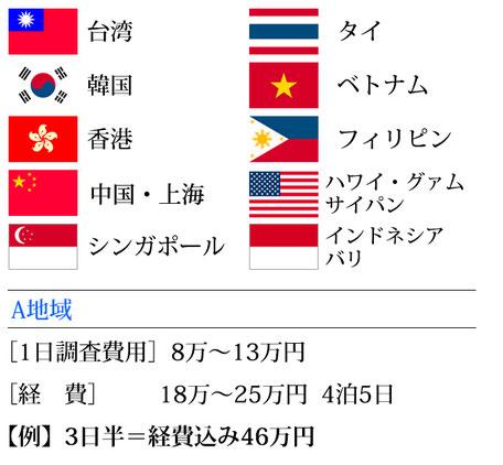アジア 浮気調査