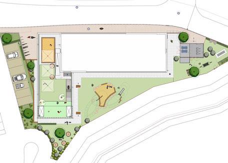 Gesundheitszentrum, Waldkirch - Leistungsphase 6-8, Planung: Albrecht Hild Freier Landschaftsarchitekt