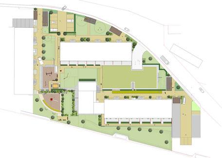 Emmendinger Str. BA 1+2, Waldkirch - Leistungsphase 6-8, Planung: Albrecht Hild Freier Landschaftsarchitekt