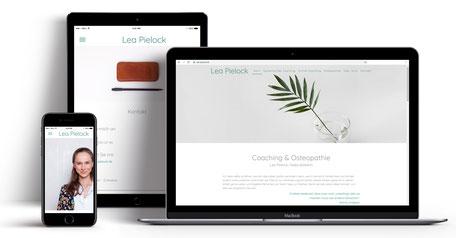 Webseite für Osteopathie