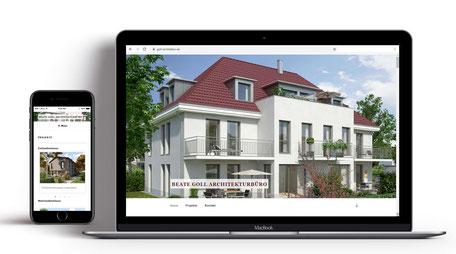 Webseite für Archtiketin Beate Goll