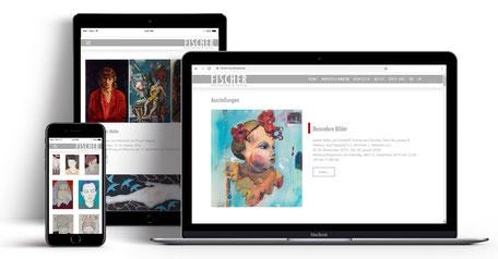 Webseite für Galerist Werner Fischer