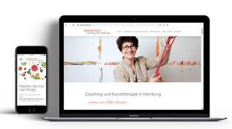 Webseite für Coaching und Kunststherapie