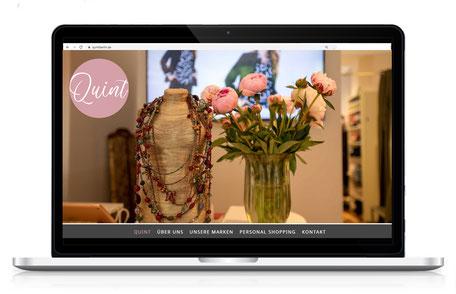 Webseite für Boutique