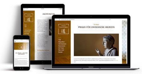 Webseite für Akupunkturpraxis