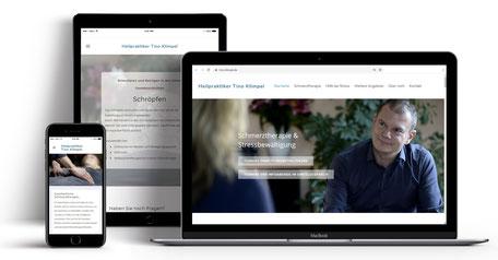 Webseite für Heilpraktiker Tino Klimpel