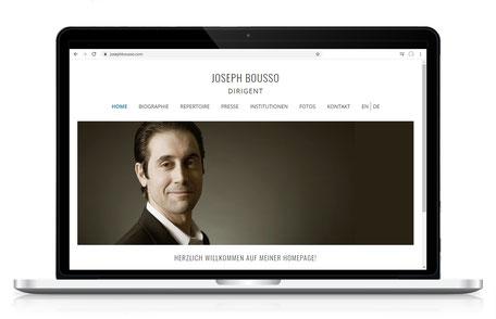 Webseite für Dirigent Joseph Bousso