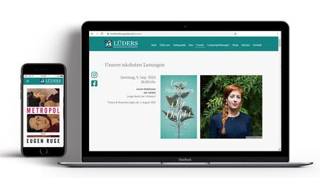 Webseite für Buchhandlung