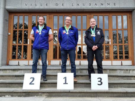 2ème Mignot Benoît, 1er Mignot Pierre, 3ème Chabloz Gilbert