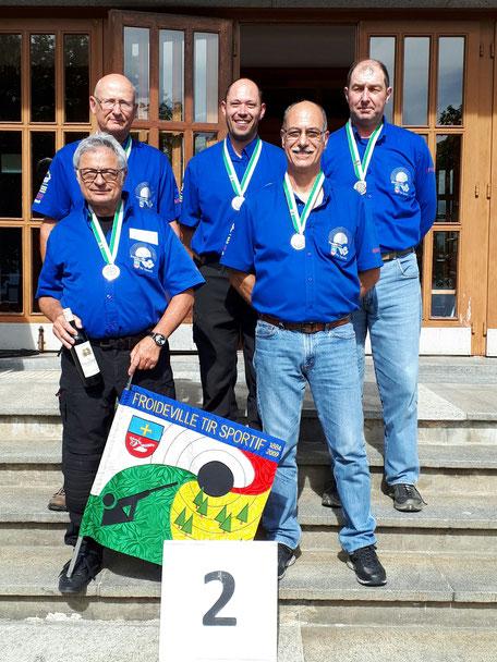 De gauche à droite : Ceppi Jean-Pierre, Moret Olivier, Cherpillod Laurent, Martinet Renato et Chappuis Nicolas