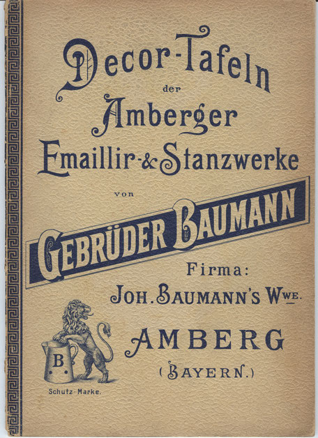 Katalog mit Dekormuster (Geschätzt 1903)