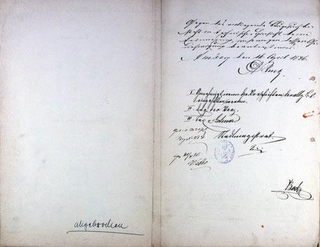 1886 Bauantrag zur Erweiterung der Nebengebäude