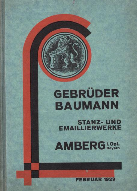 Katalog von 1929 mit farbigen Innenblatt für die Dekore