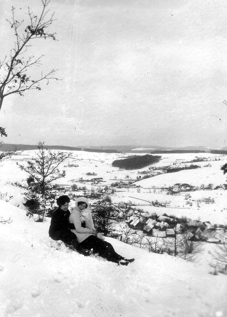 1913 Rodelbahn vom Pavillion nach Raigering