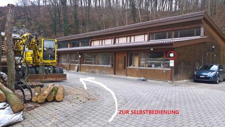 Anfahrt Brennholz Stocker Dornach