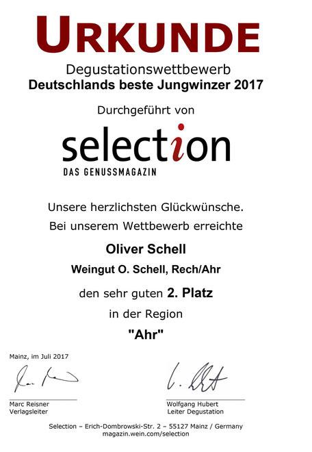 Deutschlands Beste Jungwinzer 2017 Selection Magazin Genussmagazin Oliver Schell Weingut O. Schell