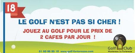 Le golf c'est pas si cher. Jouez au golf pour le prix de 2 cafés par jours. golf pas cher.