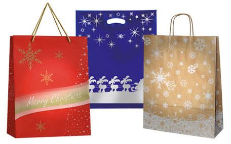 Weihnachtstüten und -taschen bedrucken