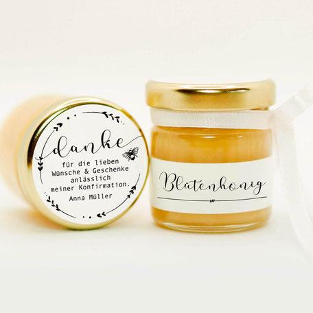 Honig als Gastgeschenk - Bioland    Perfekt für Ihre Hochzeit, Kommunion, Konfirmation, Taufe, Geburtstag oder jedes andere Fest.