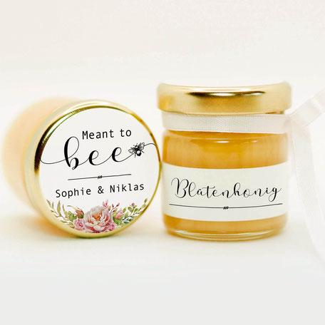 Honig - süße Gastgeschenke zur Hochzeit Kommunion Konfirmation