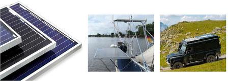 Solarmodul SOLARA S-Serie mit Rahmen mit 95 Watt, 120 Watt und 190 Watt. Ideal zum Nachrüsten und für Komplettsets mit Laderegler und Montagesystem. Die Solarmodule haben alle Tests erfolgreich bestanden. Solarmodule für Wohnmobile, Reisemobile und Vans.