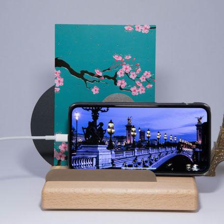 Artist - der Platzhalter für die Regeneration der Sinne; Holzständer, Handyhalter, Kartenhalter, Holzprodukt, Fotohalter aus Holz,  Ideen aus Holz,