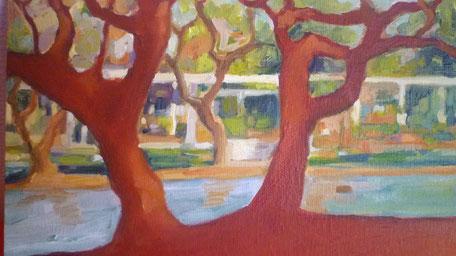 Lorena Bustamante - peinture à l'huile