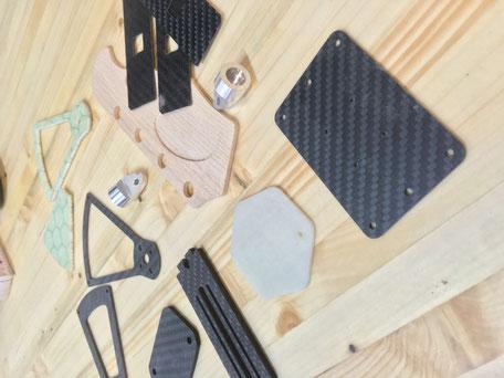 Drohnenteile, Holzteile, Carbonteile fräsen