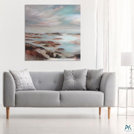 www.astrid-kroemer-malerei.de, Kniepsand, Acyl auf Leinwand, 2020, 100x100cm