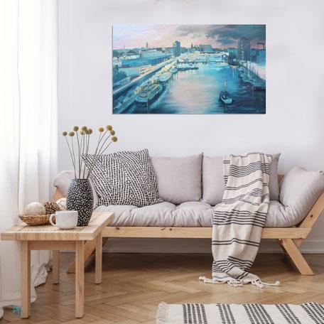 Astrid Krömer, Kieler Hörn, Acryl auf Leinwand, 2020, 100 x70 cm