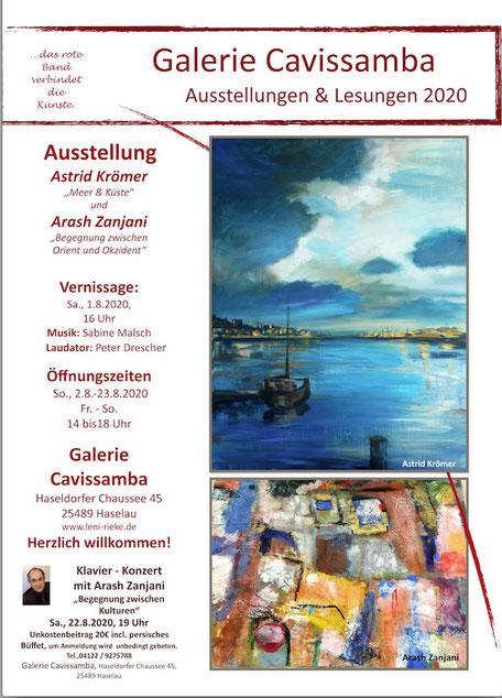 """Ausstellung in der Galerie Cavissamba, Astrid Krömer  zeigt Acrylbilder zum Thema """"Meer und Küste"""" , www.astrid-kroemer-malerei.de"""