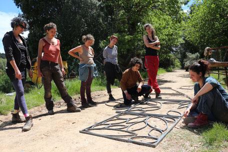 Les participantes au stage de soudure, La Cabrery en Provence