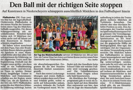 Wieder ein Training nur für Mädchen im Rahmen des Pfaffenhofener Ferienpasses; PK vom 10.8.2019