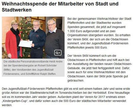 Bericht der Stadt Pfaffenhofen aus PAFundDU