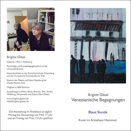 Einladung zur Ausstellung Venezianische Begegnungen in Hannover am 1. September 2011 Vorderseite